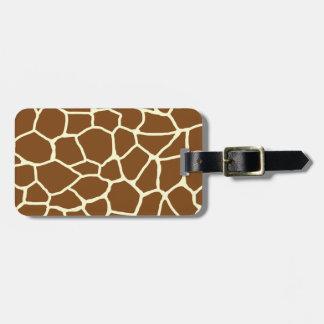 Wildes Giraffen-Muster-Tierdruck Gepäckanhänger