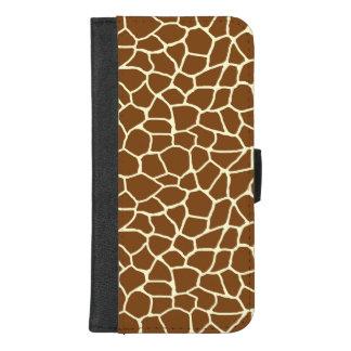 Wildes Giraffen-Muster-Tierdruck iPhone 8/7 Plus Geldbeutel-Hülle