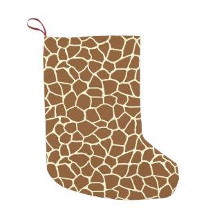 Wildes Giraffen-Muster-Tierdruck Kleiner Weihnachtsstrumpf