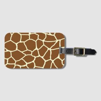 Wildes Giraffen-Muster-Tierdruck Kofferanhänger