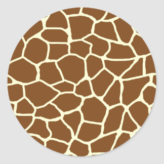 Wildes Giraffen-Muster-Tierdruck Runder Aufkleber