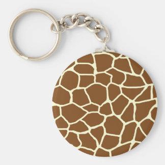 Wildes Giraffen-Muster-Tierdruck Schlüsselanhänger