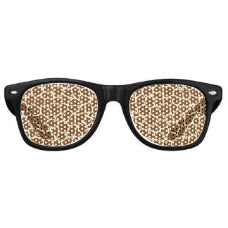 Wildes Giraffen-Muster-Tierdruck Sonnenbrille