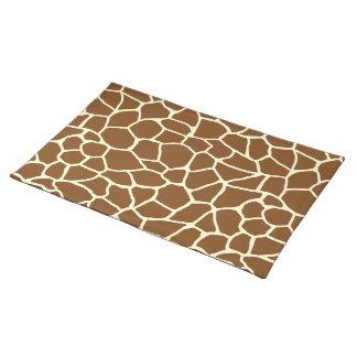 Wildes Giraffen-Muster-Tierdruck Stofftischset