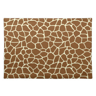 Wildes Giraffen-Muster-Tierdruck Tischset