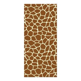 Wildes Giraffen-Muster-Tierdruck Werbekarte
