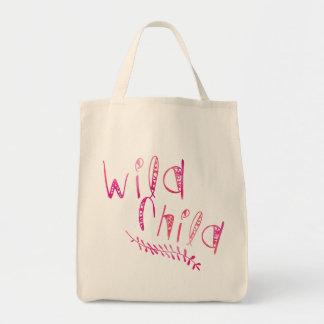 Wildes KinderPink-Stammes- Muster-Skript Einkaufstasche