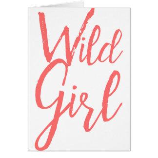 Wildes Mädchen (feministische Ausdrücke) Karte