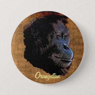 Wildes Orang-Utan große Runder Button 7,6 Cm