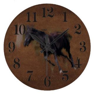 """Wildes Pferd """"Jahr des Pferd"""" pferdeartige Grafik Große Wanduhr"""