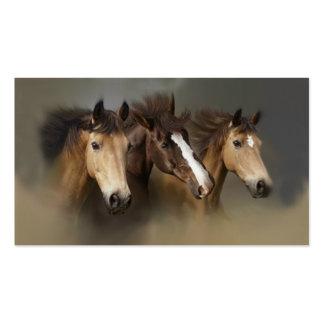 Wildes Pferdetrio-Visitenkarte Visitenkarten