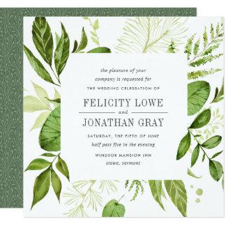 Wildes Quadrat der Wiesen-Hochzeits-Einladungs-| Einladungskarte