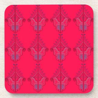 Wildes Rot des Entwurfs-Mandalases Untersetzer
