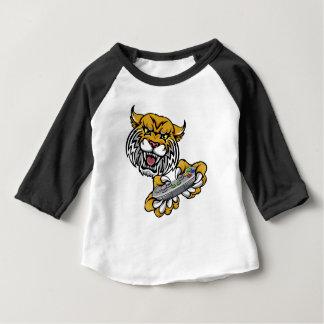 Wildes Rotluchs-Spielergamer-Maskottchen Baby T-shirt