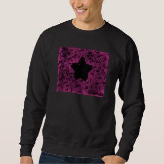Wildes Stern-Rosa Sweatshirt