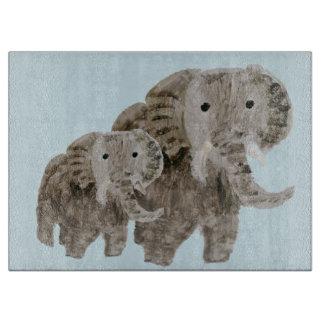 Wildes Tier-Elefant-Kunst Schneidebrett