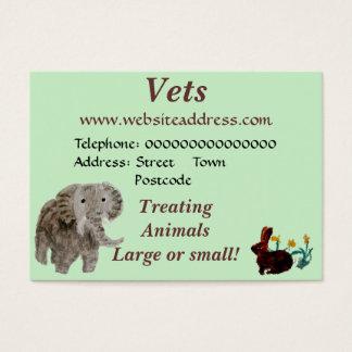 Wildes Tier-Kunst Visitenkarte