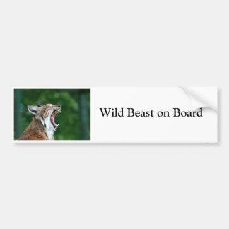 Wildes Tier Luchs Bobcat an Bord des Autoaufkleber