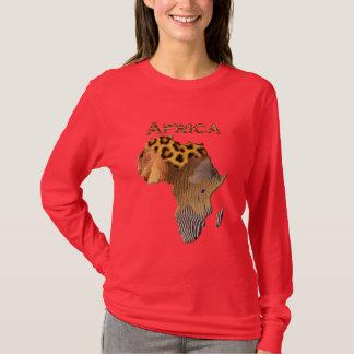 Wildes Tier masert Karte von AFRIKA-Reihe T-Shirt