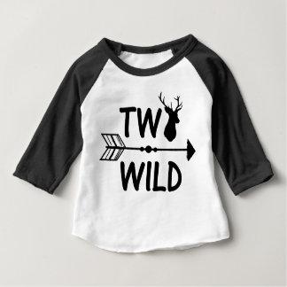 Wildes und 2. Geburtstags-Shirt mit zwei Pfeilen Baby T-shirt