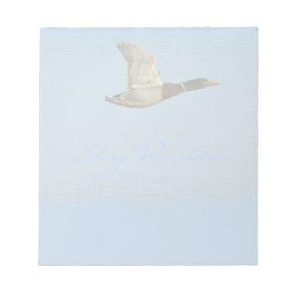 Wildes Wasser-Geflügel-Fliegen-Enten-Foto Notizblock