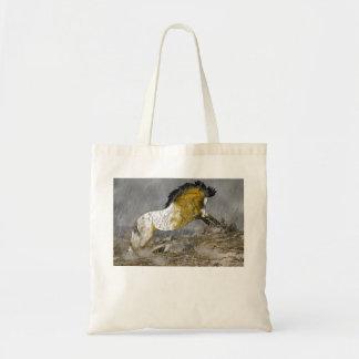 Wildes Wildlederappaloosa-Pferd Tragetasche