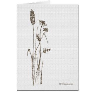 Wildflower Grußkarte