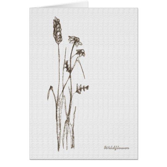 Wildflower Karte