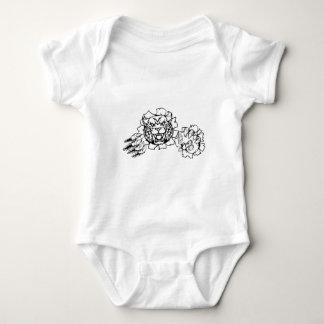 Wildkatzen-oder Rotluchs Esports Gamer-Maskottchen Baby Strampler