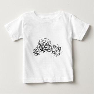Wildkatzen-oder Rotluchs Esports Gamer-Maskottchen Baby T-shirt