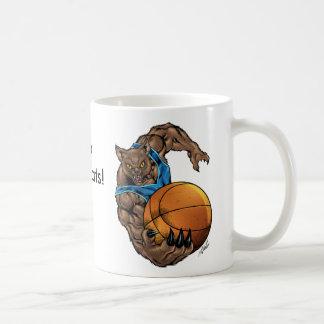 Wildkatzen-Rotluchs-Basketball, Blau, blauer Kaffeetasse
