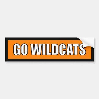 Wildkatzen - schwarzes orange Weiß Autoaufkleber