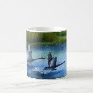 Wildkife auf Teich Kaffeetasse