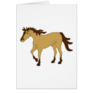 Wildleder-Pferd Karte