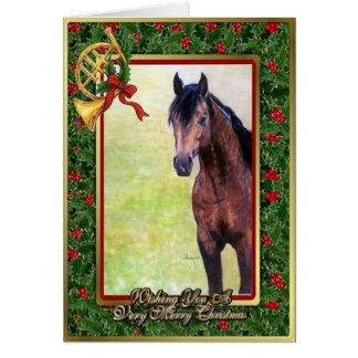 Wildleder-Quarterhorse-Raum-Weihnachtskarte Karte