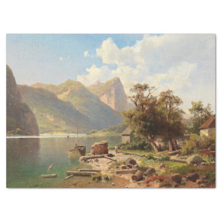 Wildnis-Alpen-Mountainalpines See-Seidenpapier Seidenpapier