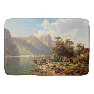 Wildnis-Alpen-Mountainsee-alpine Bad-Matte Badematte
