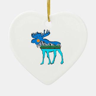 Wildnis-Elche Keramik Ornament