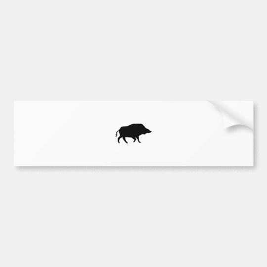 Wildschwein Autoaufkleber
