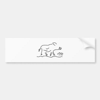 Schweine I 3 Tierrecht Mediumentwurf Durch Autoaufkleber Zazzle