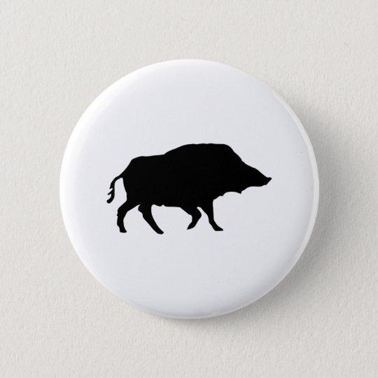 Wildschwein Runder Button 5,1 Cm