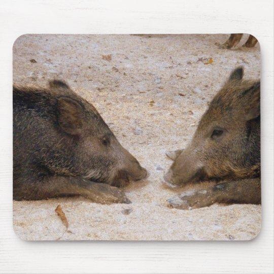 Wildschweine - Wild Hog Mousepad