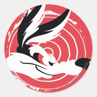 Wile Warner Bros stellt Plakat dar Runde Sticker