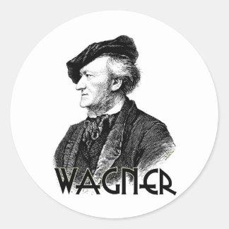 Wilhelm Richard Wagner Runder Aufkleber