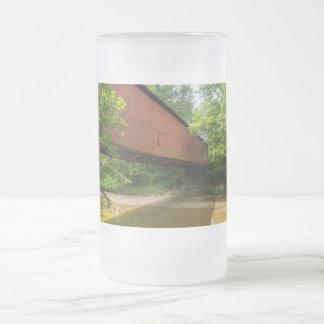 Wilkens Mühlüberdachte Brücke Mattglas Bierglas