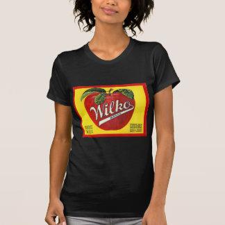 Wilko Marken-Apfel-Vintager Aufkleber T-Shirt