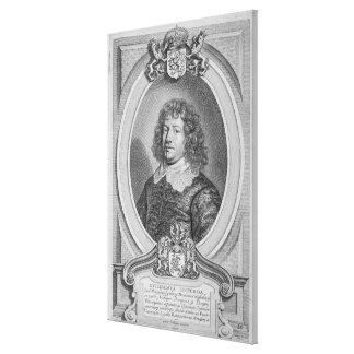 Willem Ripperda 1600-69 von Porträt-DES Homm Galerie Falt Leinwand