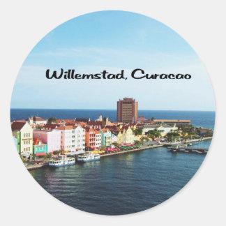 Willemstad Curaçao Runder Aufkleber