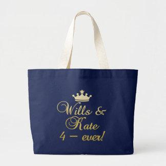 Willen u. Kate 4-Ever T - Shirts, Tassen, Jumbo Stoffbeutel