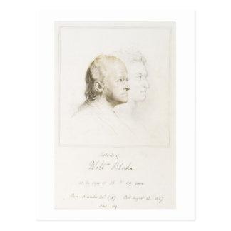 William Blake (1757-1827) in der Jugend und im Postkarte